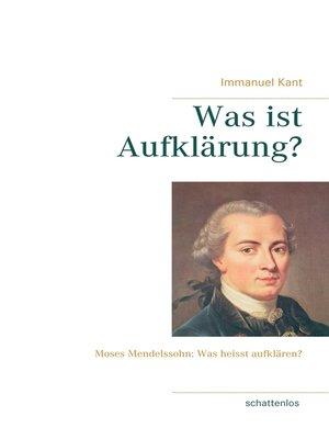 cover image of Was ist Aufklärung?