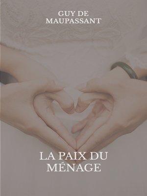 cover image of La paix du ménage