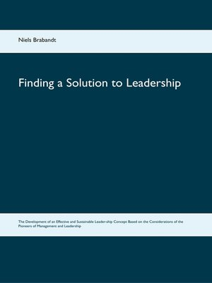 cover image of Finding a Solution to Leadership