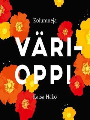 cover image of Värioppi