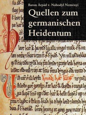 cover image of Quellen zum germanischen Heidentum