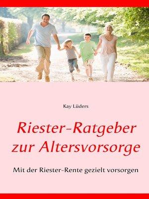 cover image of Riester-Ratgeber zur Altersvorsorge