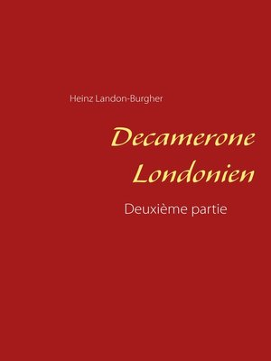 cover image of Decamerone Londonien
