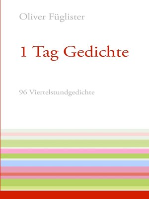 cover image of 1 Tag Gedichte