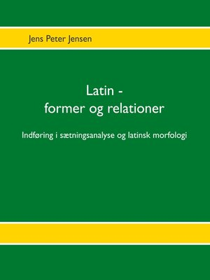 cover image of Latin--former og relationer