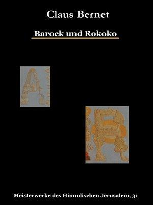 cover image of Barock und Rokoko