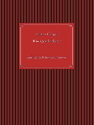 cover image of Kurzgeschichten aus dem Kinderzimmer