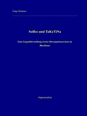 cover image of Solfeo und TaKeTiNa