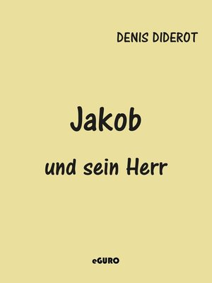 cover image of Jakob und sein Herr