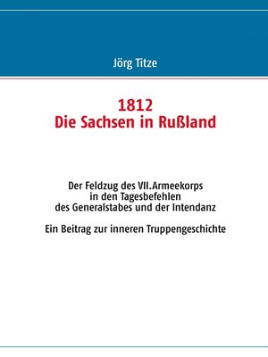 cover image of 1812--Die Sachsen in Rußland