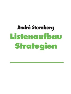 cover image of Listenaufbau Strategien