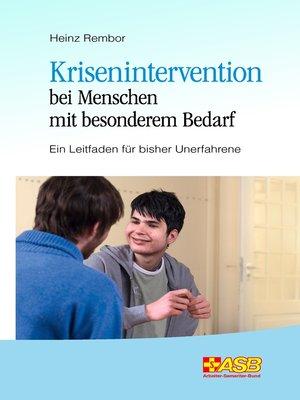cover image of Krisenintervention bei Menschen mit besonderem Bedarf