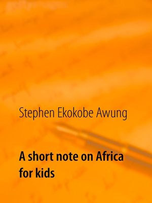 cover image of A short note on Africa for kids