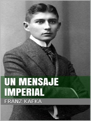 cover image of Un mensaje imperial