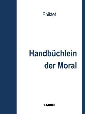 cover image of Handbüchlein der Moral