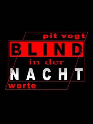 cover image of Blind in der Nacht