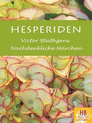 cover image of Hesperiden