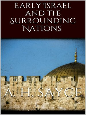 cover image of Early Israel and the Surrounding Nations