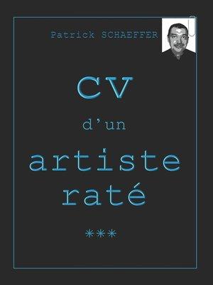 cover image of CV d'un artiste raté