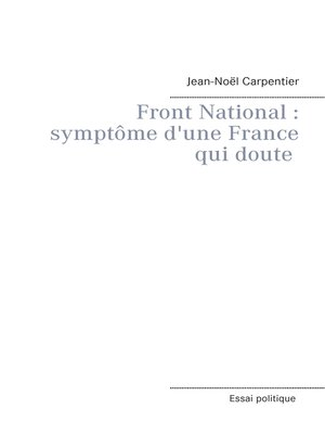 cover image of Le Front National