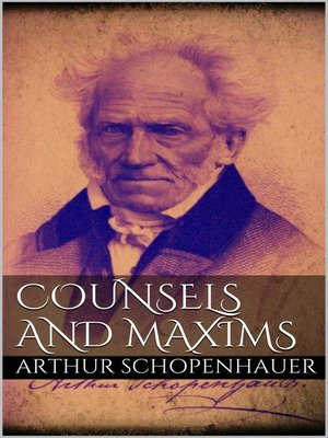 cover image of Counsels and Maxims