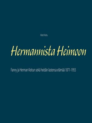cover image of Hermannista Heimoon