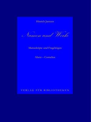cover image of Namen und Werke 6
