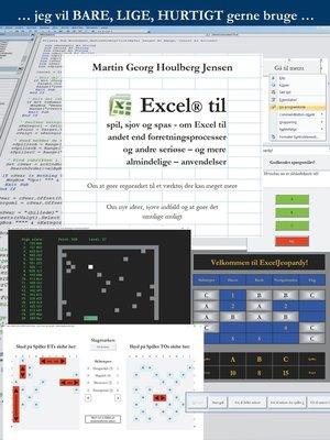 cover image of Excel til spil, sjov og spas