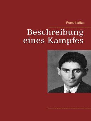 cover image of Beschreibung eines Kampfes