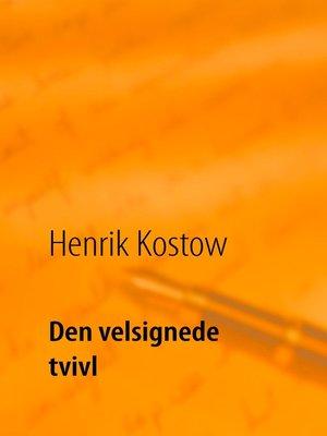 cover image of Den velsignede tvivl