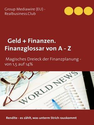 cover image of DB Geld + Finanzen. Finanzglossar von a --Z