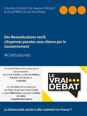 """cover image of #GILETS JAUNES """"Revendications 100% citoyennes passées sous silence par le Gouvernement"""""""