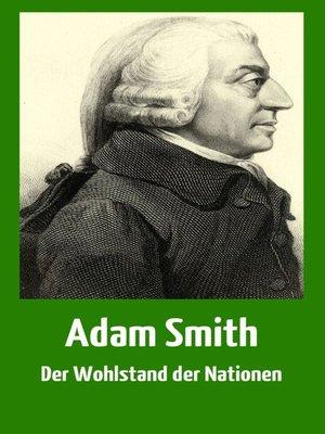 cover image of Der Wohlstand der Nationen