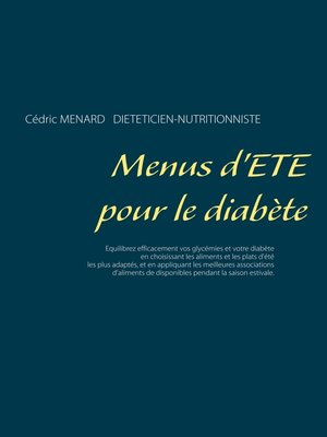 cover image of Menus d'été pour le diabète