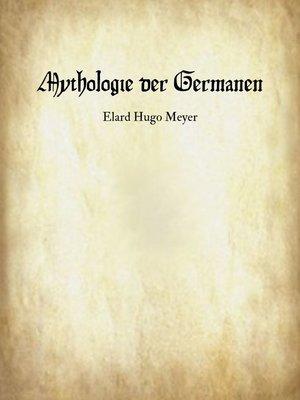 cover image of Mythologie der Germanen