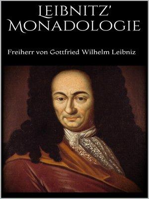 cover image of Leibnitz' Monadologie