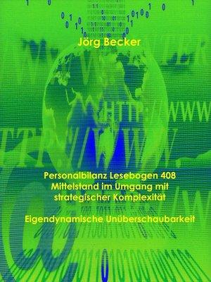 cover image of Personalbilanz Lesebogen 408 Mittelstand im Umgang mit strategischer Komplexität