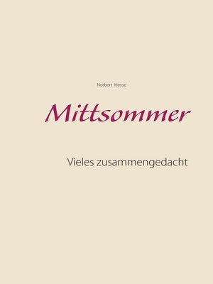 cover image of Mittsommer