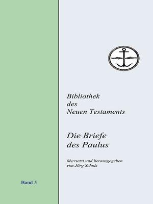 cover image of Die Briefe des Paulus