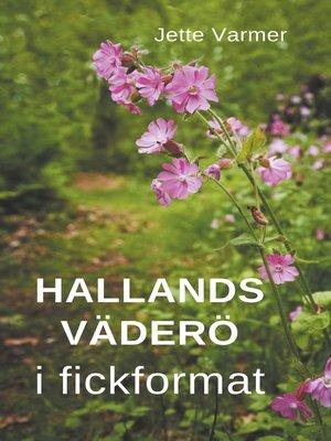 cover image of Hallands Väderö i fickformat