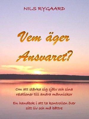 cover image of Vem äger ansvaret