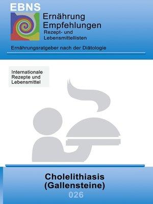 cover image of Ernährung bei Gallensteine