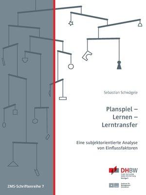 cover image of Planspiel--Lernen--Lerntransfer