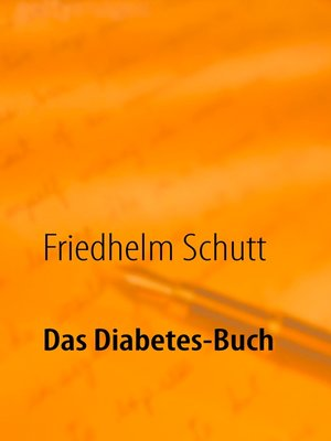 cover image of Das Diabetes-Buch