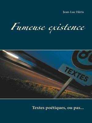 cover image of Fumeuse existence