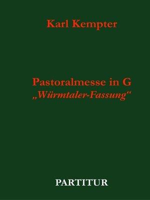 cover image of Kempter--Pastoralmesse in G