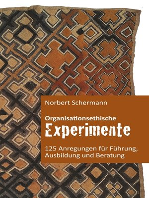 cover image of Organisationsethische Experimente