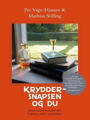 cover image of Kryddersnapsen og du