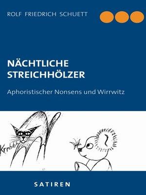 cover image of Nächtliche Streichhölzer