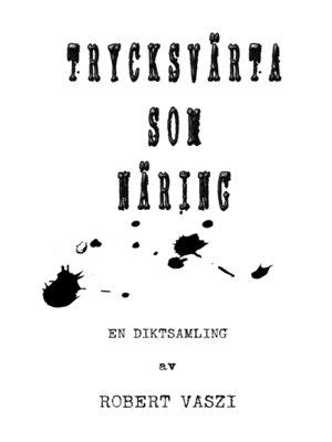 cover image of Trycksvärta som näring